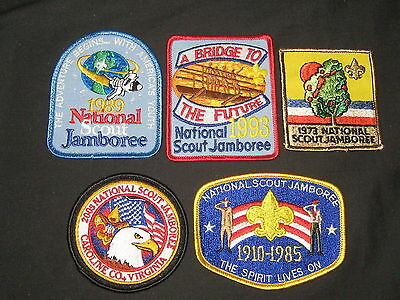 5 Different National Jamborees Patches       c33