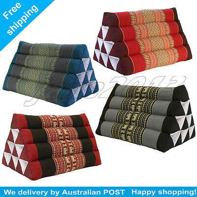 5 COLORS Thai Triangle Pillow Pad Cushion Handmade 100% Kapok Cotton
