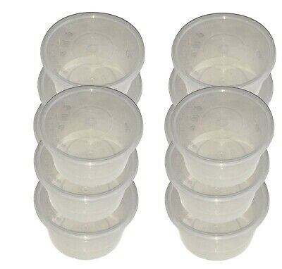 Plastic Round Containers Tubs Pots With Lids Clear Microwave Food Safe Takeaway