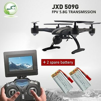 JXD 509G RC Drone FPV Quadcopter w/ HD Camera 5.8G Altitude Hold Spare Battery