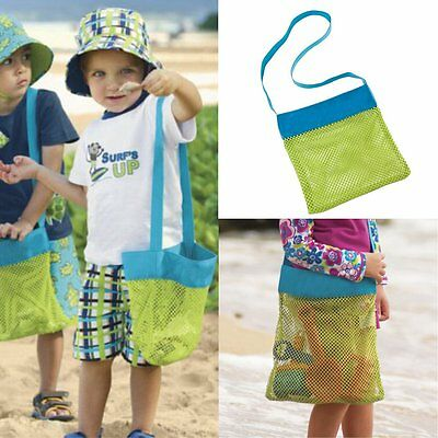 Portable Kids Sand Away Mesh Beach Bag Shell Collection Sandpit Toys Storage New
