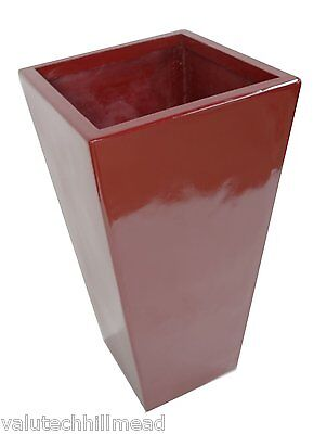 Geko Products Square Planter, Colour: Red