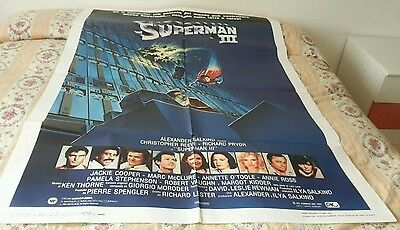 Manifesto Cinema - Superman Iii - Prima Edizione Italiana 1983