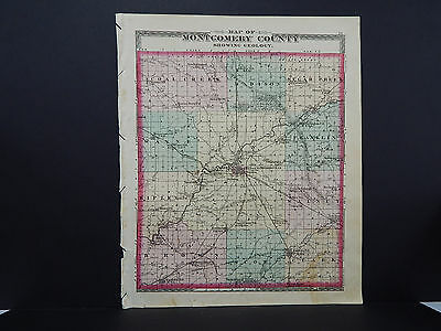 Indiana, Montgomery County Map, 1878 J19#42