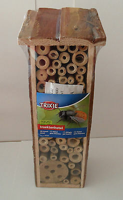 INSECT HOTEL / NEST FOR HONEY / MASON BEES, Wasps etc. Natural Wooden Hive