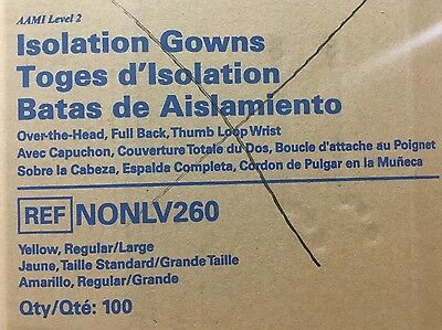 MEDLINE AAMI Isolation Gowns NONLV260 Regular/Large Over The Head Box of 100