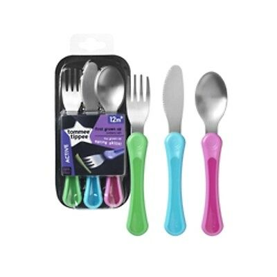 Tommee tippee Baby/Toddler  First Grown-up Cutlery BPA FREE 3 New Colour Pink