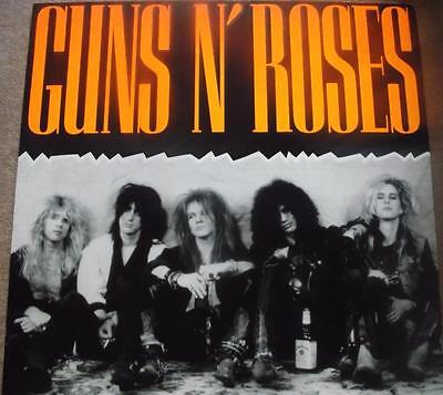 Rare Guns n' Roses Shop Display/Point of Sale Picture/Poster 40 inches! 1980's