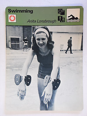 Sportscaster Rencontre Card - Swimming - Anita Lonsbrough