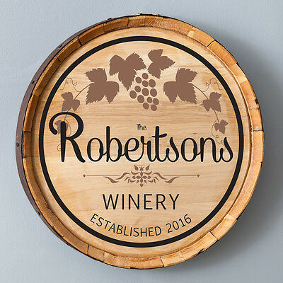 Personalized  Wine Barrel Home Decor Sign - Cabernet