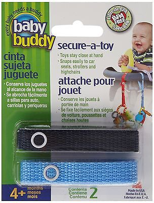 Baby Buddy Secure-A-Toy Navy/Blue 2 Pack