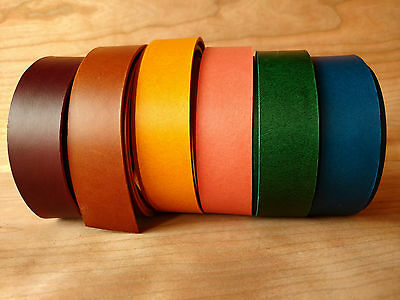 "46"" STRAP TUSCANY VEGETABLE TANNED LEATHER COWHIDE 11 COLOURS 2mm VARIOUS WIDTHS"
