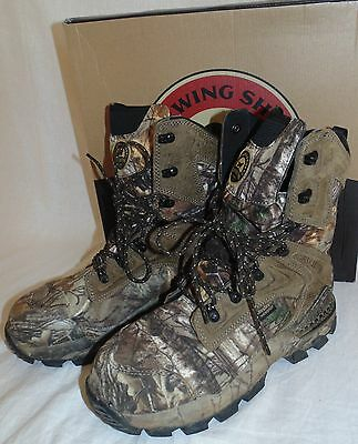 8573e856737 RED WING SHOES Irish Setter Hunt Mens Size 8D 4837 Deer Tracker Boots  Camouflage