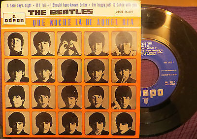 THE BEATLES: que noche la de aquel dia ( SPANISH SINGLE) DSOE 16.619