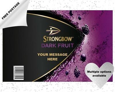 STRONGBOW DARK FRUIT CIDER can & bottle labels edible icing cake and cupcakes