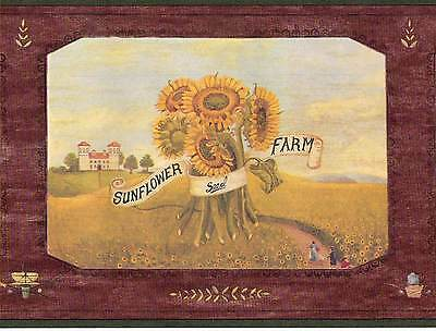 Canada$ - Golden Harvest Scene - 45 feet ONLY $25 - Wallpaper Border 589