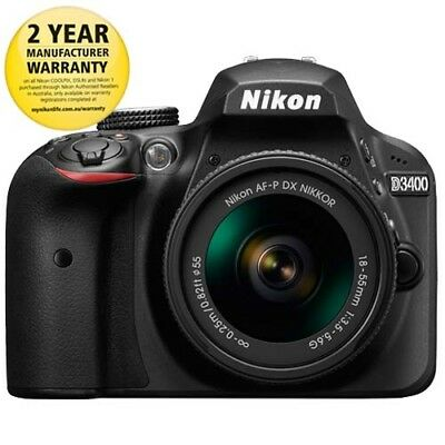 Nikon D3400 DSLR Camera 18-55mm Lens Kit with GEN NIKON WARR
