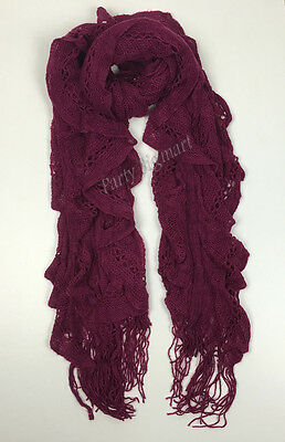 Bulk Lots 12x Ladies Warm Winter Soft Knit long Scarf -7 Colours Assorted G6318