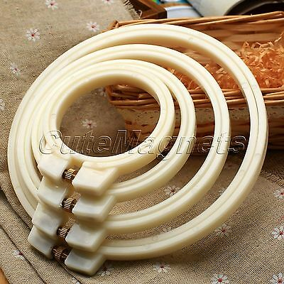 Plastic Cross Stitch Machine Embroidery Round Hoop Ring Craft Sewing 7/9/12/15cm