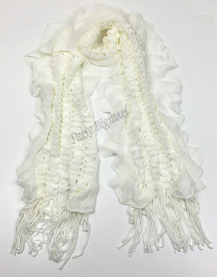 Bulk Lots 12x Ladies Warm Winter Soft Knit long Scarf -7 Colours Assorted G6322