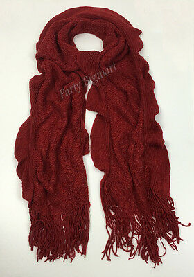 Bulk Lots 12x Ladies Warm Winter Soft Knit long Scarf -7 Colours Assorted G6324