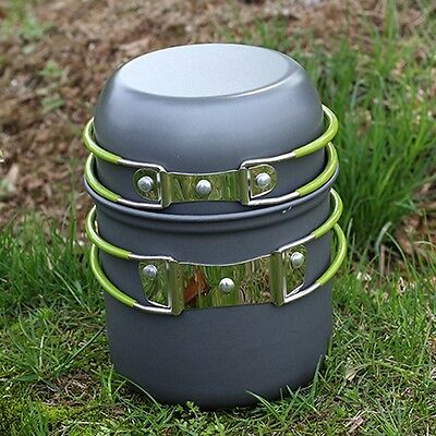 Outdoor Picnic Camping Cooking Kit Cookware Fishing Portable Pot Set One Person