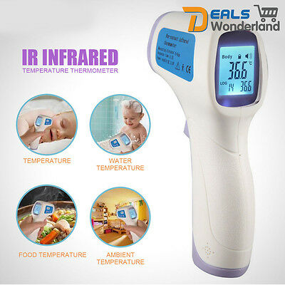 Home Digital Baby Kid Adult Food Non-contact IR Infrared Temperature Thermometer