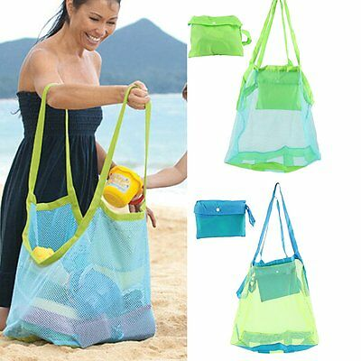 Children Sand Away Beach Mesh Bag Toys Clothes Towel Baby Toy Collection Nappy