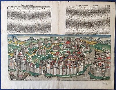 City view CONSTANTINOPLE from Nuremberg chronicle Schedel 1493 Liber chronicarum