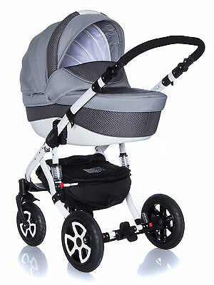 Baby Pram Pushchair Stroller Buggy Travel System 3In1 Adamex Barletta Pik18