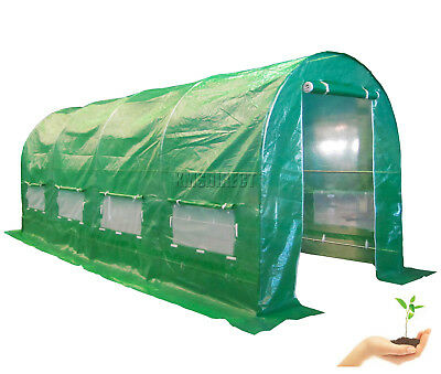 Galvanised Steel Frame Polytunnel Greenhouse Pollytunnel Poly Tunnel 5m x 2m