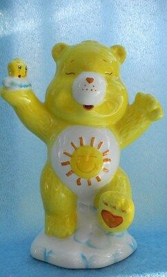 Care Bears Baby Ceramic Bank Funshine Bear,  New in box 2002