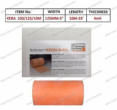 "Schluter KEBA/100/125/10M Kerdi Band 5"" x 33' ( 125mm x10m ) Waterproofing Strip"