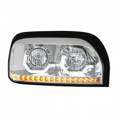 Freightliner Century Chrome Projection LED Headlight - Passenger Side
