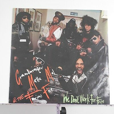"""Grandmaster Melle Mel & The Furious Five We Don't Work For Free 1984 UK 12"""""""