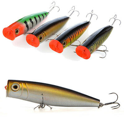 CABO 140mm Big Poppa - Large Topwater Rattling Popper Minnow Fishing Hard Lure