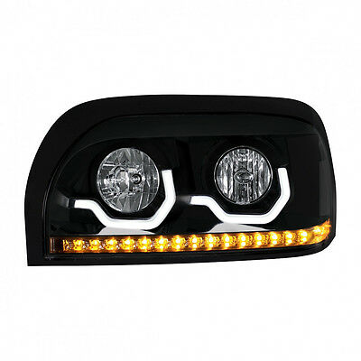 """Freightliner Century """"Blackout"""" Projection LED Headlight - Driver Side"""