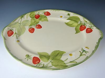 """Franciscan Stoneware STRAWBERRY FAIR 14"""" Oval Serving Platter EXCELLENT"""
