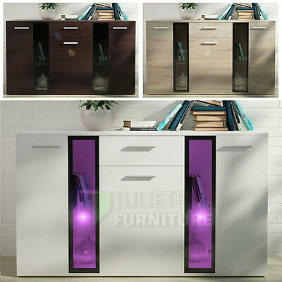 Modern__Sideboard__Cabinet__Chest of drawers__140 cm___WHITE__Agnes 1___LED
