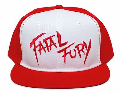 Retro Fatal Fury Terry Bogard Red Cap Hat Andy King of Fighters Embroidered Flat