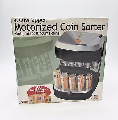 Accuwrapper Motorized Coin Sorter & Wrapper Bank with Rolls - Magnif 4840