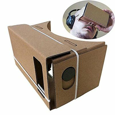 3D Cardboard VR Google Virtual Reality Headset With Full NFC For iPhones Android