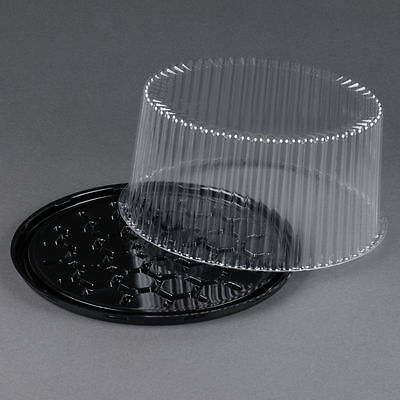 5 sets Disposable Cake Tray, Carrier, Server Display Container Plastic  10""