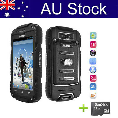"4.0"" Discovery V8 Rugged Android Smartphone 3G GSM Shockproof Mobile Phone+32GB"