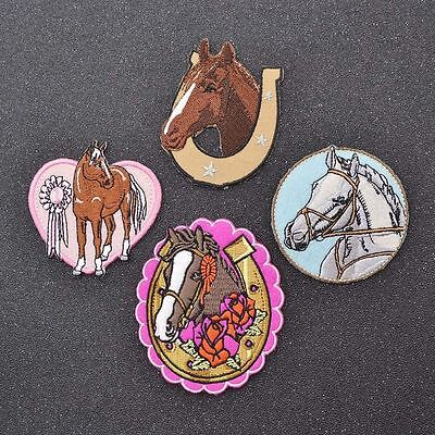 Novelty Horse Shape Iron On Patches Embroidered Applique DIY Craft Supplies 1pc
