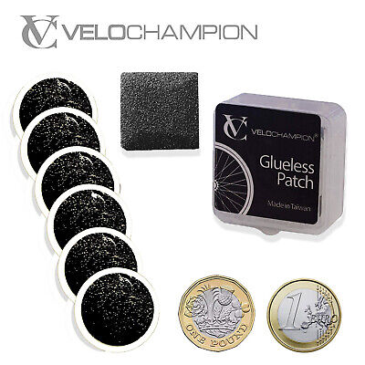 VeloChampion Bike Puncture Repair Patches Self-Adhesive Kit Pack of 6