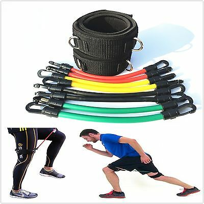 8 Tubes Kinetic Bands Speed Strength Resistance Training bands tubes All Sports