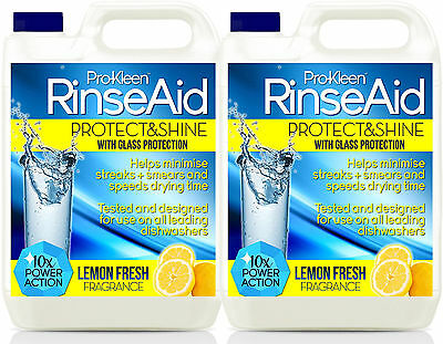 Dishwasher Rinse Aid Glass Dish Wash Detergent Liquid Shine Finish Cleaner Lemon