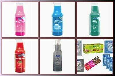 PASANTE LUBE Lubricants Flavoured, Delay, Orgasmic,light, silky pump or sachets