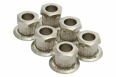 "Kluson Hex Head conversion bushings for 1/4"" tuning posts - Nickel"